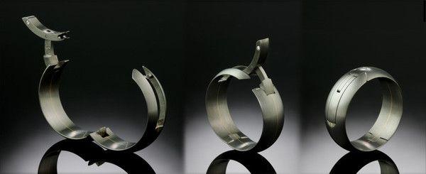 Men S Titanium Gold Hidden Diamond Hinge Ring