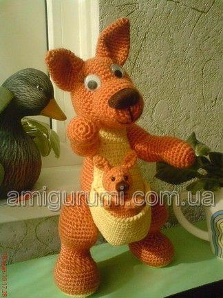 Amigurumi Big Animals : amigurumi kangaroo free pattern in russian. Crochet ...