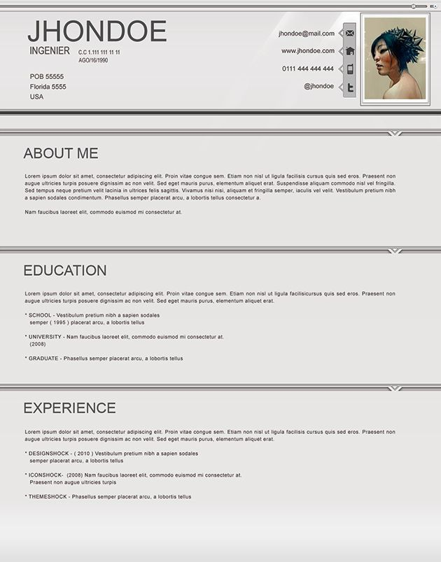 15 Year Old Resume Examples Pinterest Resume, Cv template and