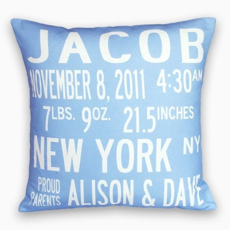 Personalized pillows at homestyle you choose the text and textile personalized pillows at homestyle you choose the text and textile color gift ideas for mothers day pinterest personalised baby birth and babies negle Images