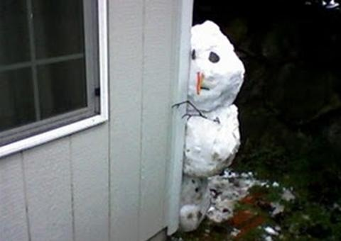 Shy Snowman. So many possibilities. When the snow gets good for making snowmen, we will have to try some fun snowmen.