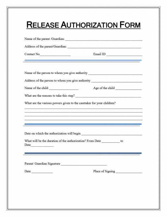 Medical Release Form Template Unique 40 Medical Records Release Form Release Of Information Templates Consent Forms Consent Forms Templates