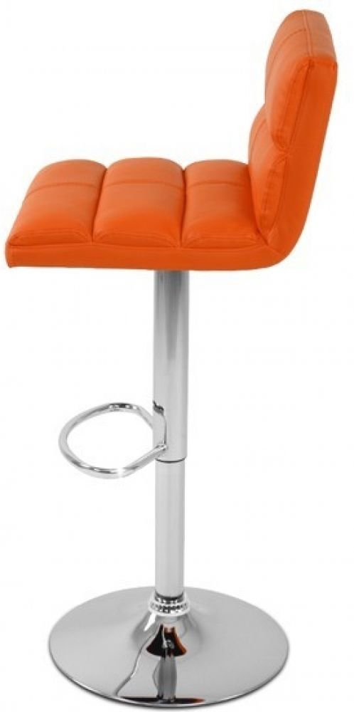 Armless Bar Stool Designed Adjustable Counter Chair Kitchen Seat Footrest Orange in Home, Furniture & DIY, Furniture, Stools & Breakfast Bars | eBay