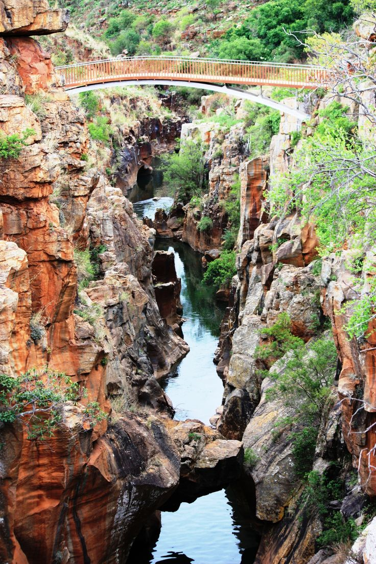 Incorporating the third largest canyon in the world and impressive lush scenery, Blyde River Canyon Reserve offers visitors a remarkable experience. This Mpumalanga Nature Reserve, South Africa is near Kruger National Park and covers 29 000 hectares stretching from the misty highlands down to the hotter and drier lowveld at the Blyde Dam.  Several hiking trails meander through the reserve and cater for all ages and levels of fitness. White water rafting and fly fishing available.