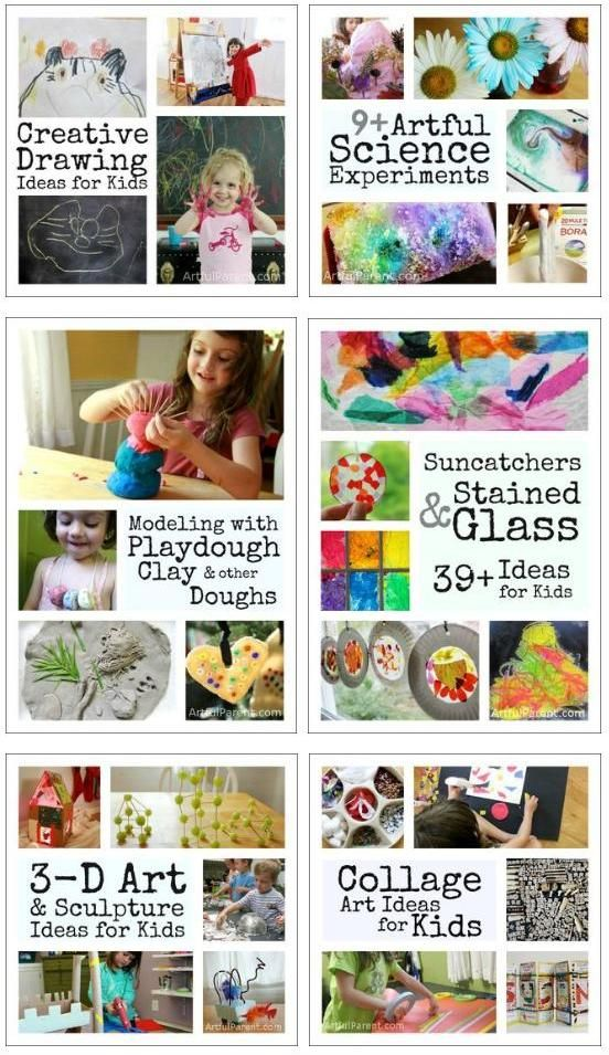 So many arts and crafts ideas for kids!