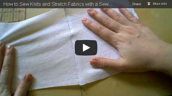 How to Sew Knit & Stretch Fabrics with a Standard Sewing Machine – DIY Fashion Tutorial Video « DiY crafts, free sewing tutorials & kickass clothing patterns – WhatTheCraft.com