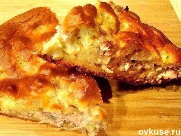 Пирог с мясом за 10 мин