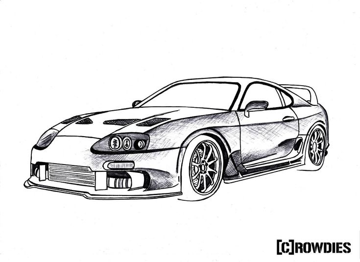Tuner Car Coloring Pages : Best images about supra drawings on pinterest