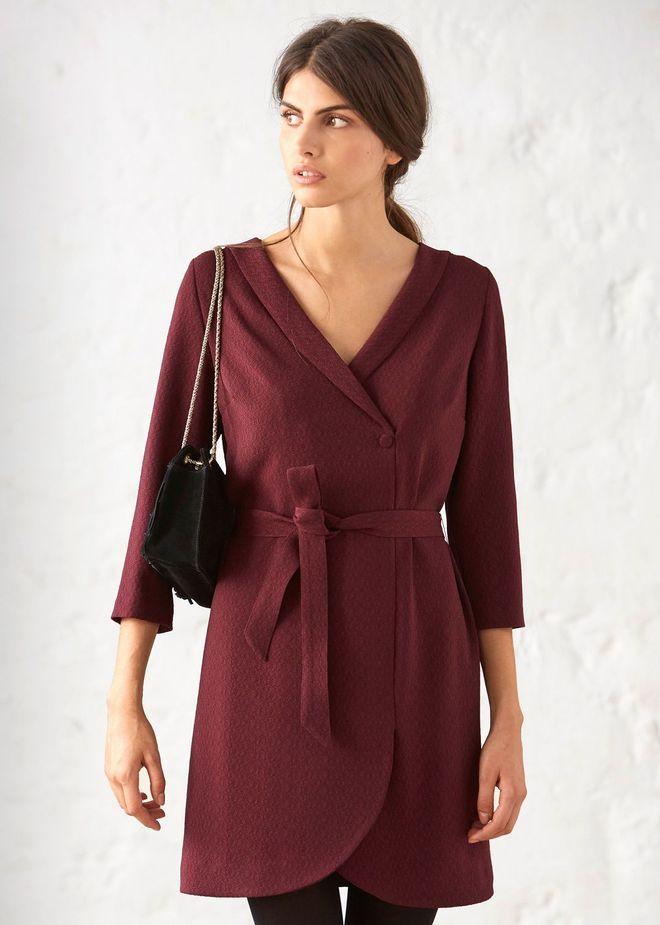Robe de soirée, robe de fêtes: Sézane robe bordeaux