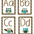 Owl Word Wall Headers Letters - Three sets