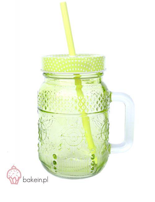 Bake in | Pastel Drinking Jar with Straw www.bakein.pl