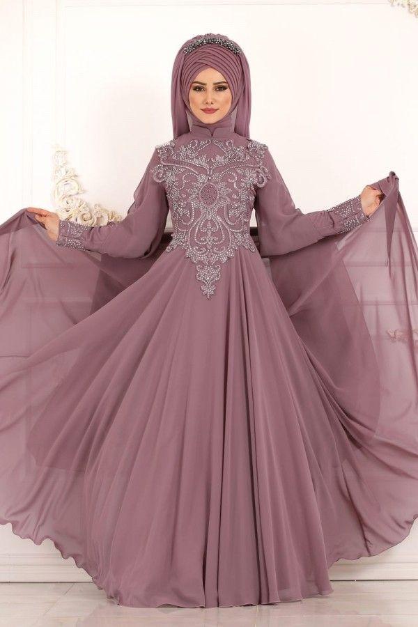 Modaselvim Abiye Kollari Sifon Pelerinli Abiye Ech7271 Gul Kurusu Modest Fashion Muslim Muslim Fashion Abayas Fashion