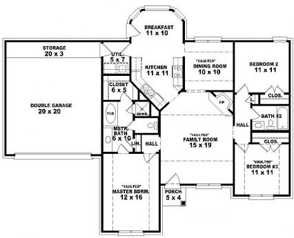 32 best floor plans images on pinterest house floor for Free single family home floor plans
