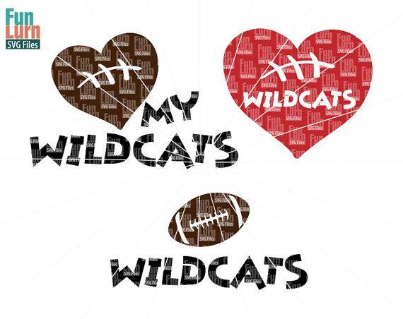 Football SVG Football season  Wildcats  Football by FunLurnSVG