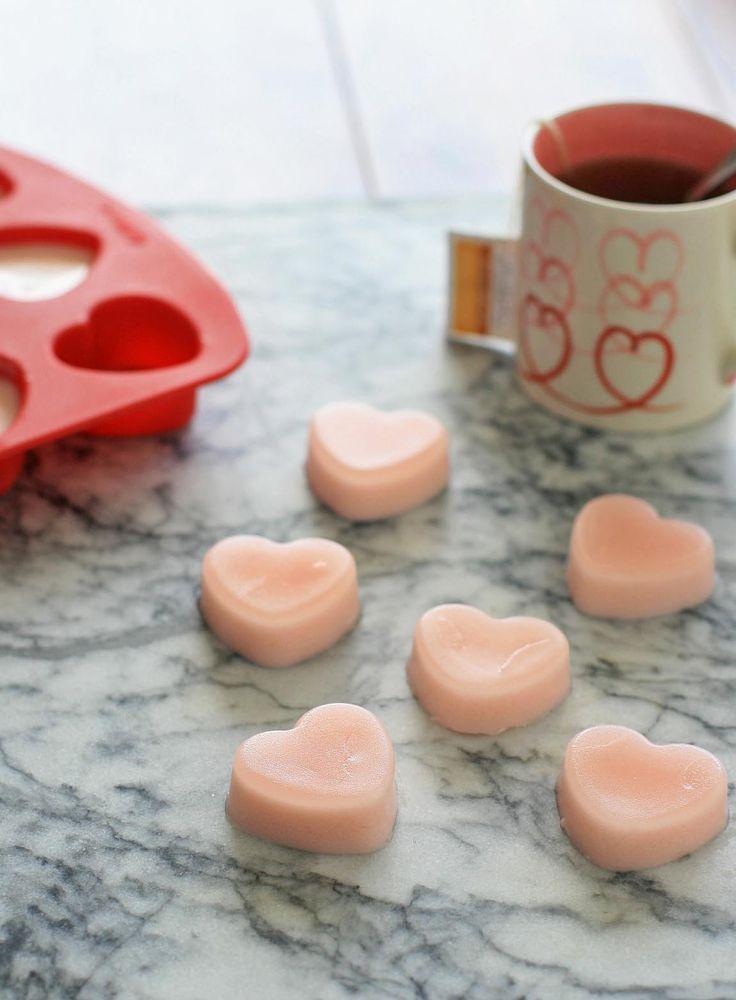 Heart Agar-Agar Coconut Jellies