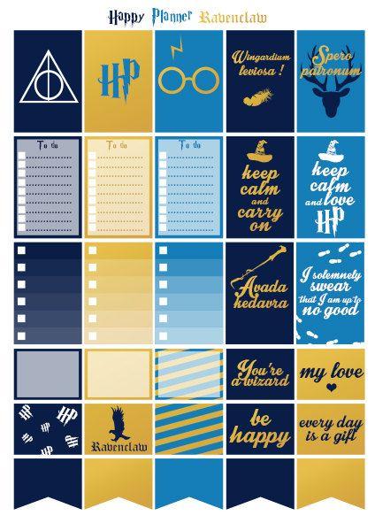 Printable stickers Harry Potter maison par Lateliercreatif06