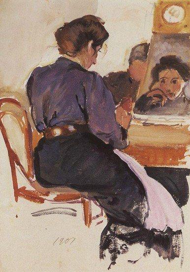 Zinaida Serebriakova - Self-portrait (1907) #2