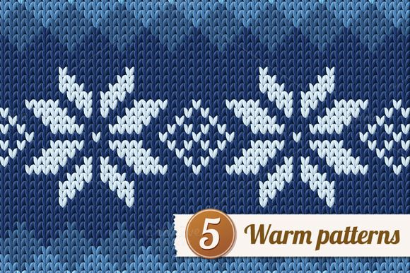 5 knitted patterns Warm, Creative and Design