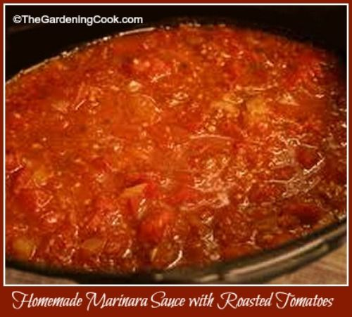 Homemade Marinara Sauce with Fresh Tomatoes - The Gardening Cook
