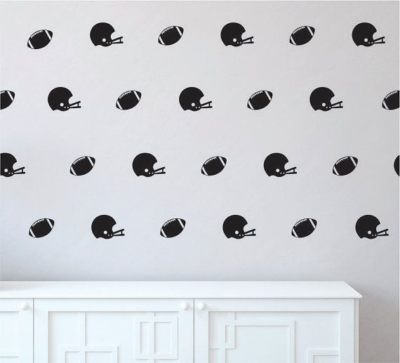 Football Wall Decal / Football Helmet Wall Decal / Boys Room Sticker / Football / Football Helmet Stickers / Football Vinyl Wall Decal