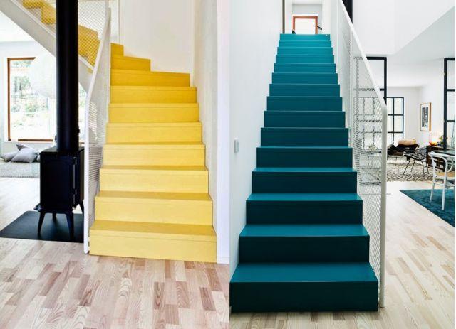 5 id es pour peindre un escalier places blog and design. Black Bedroom Furniture Sets. Home Design Ideas