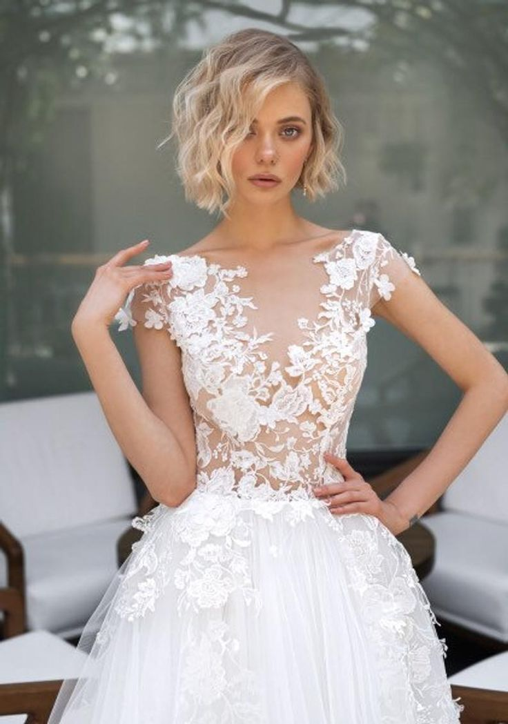 3d Elegant boho ivory wedding dress blush white sleeves lace train embroidered tulle gown wedding dress bohemian Corset Open Transparent
