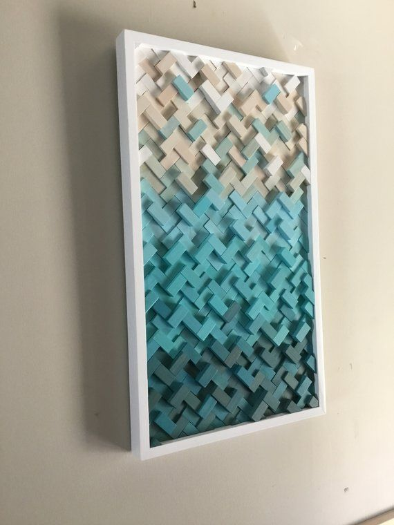 Herringbone Design Wood Wall Art Art Sculpture Dimensional