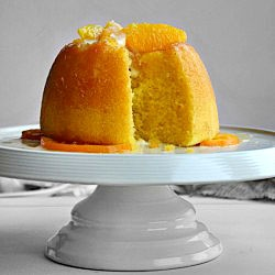 Steamed orange pudding. I love steamed puddings!