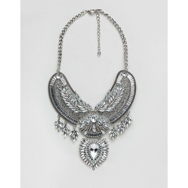 ALDO Cesoli Statement Necklace (100 BRL) ❤ liked on Polyvore featuring jewelry, necklaces, silver, adjustable chain necklace, statement bib necklace, statement collar necklace, chain necklaces and chunky chain necklaces