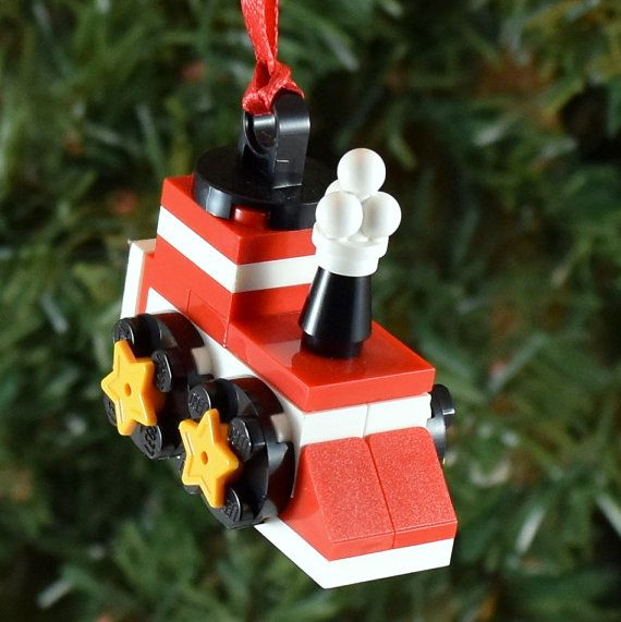 2015 Build-it KIT LEGO® Christmas Train Ornament by ornaments4charity