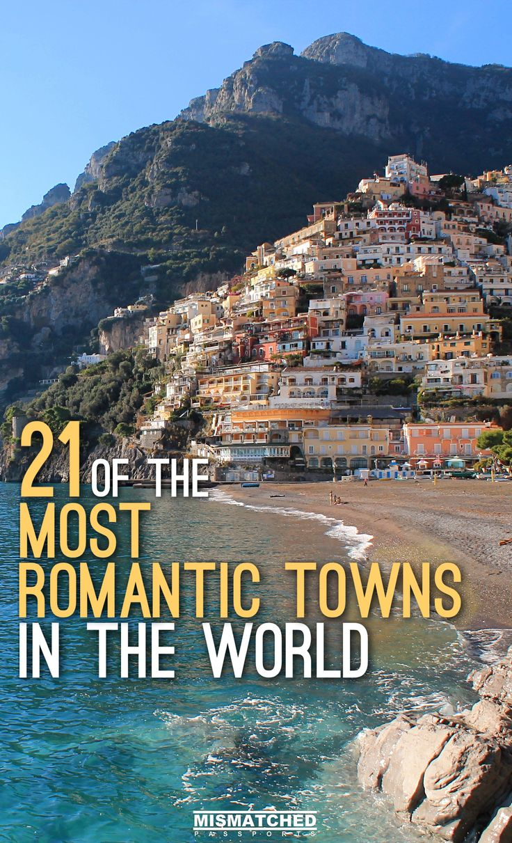 Are you looking for bucket list-worthy places to visit with your partner? Check out our list of 21 of the Most Romantic Towns in the World which includes Positano (Italy), Bled (Slovenia), Antigua (Guatemela), Fira (Greece) and other awesome towns to travel to in Europe, Asia, Africa, New Zealand, North America and South America.
