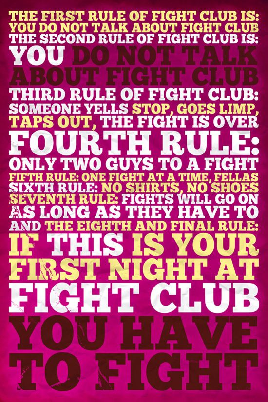 Rules of Fight Club!