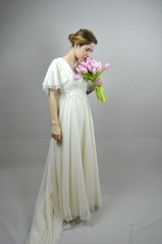 70s wedding dress / 1970s wedding dress / Nadine by BreanneFaouzi, $198.00