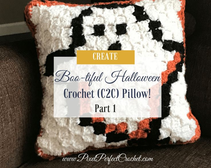 Craft the perfect spooky accent for your Halloween decor with my Boo-tiful Crochet Halloween Pillow Series with free graph, and instructions!
