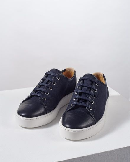 379b88cdeba6 Jigsaw Outlet Womens Ayda 17 Leather Trainer Navy