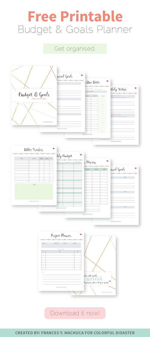 FREE PRINTABLE: Budget & Goals Planner