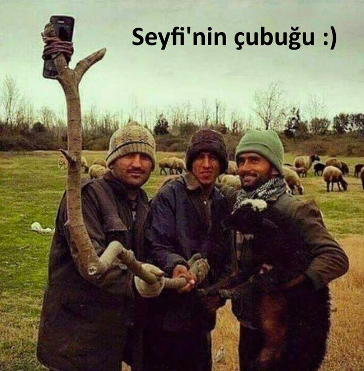 Seyfi'nin çubuğu :)  #selfie #mizah #matrak #komik #espri #şaka #gırgır #komiksözler