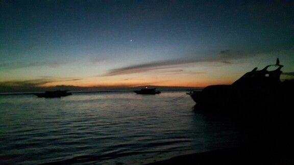 Sunrise today in Sanur