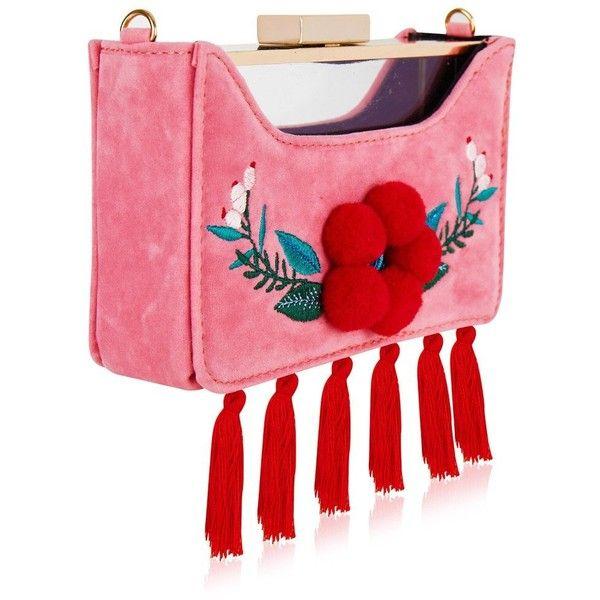 Folk Rita Clutch Bag ($46) ❤ liked on Polyvore featuring bags, handbags, clutches, handbag purse, red clutches, red purse, hand bags and red handbags