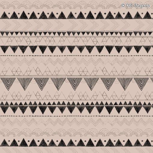 Anna Härlin's Ethno-Fabric Pattern made for the CUT-magazin | (#09002)