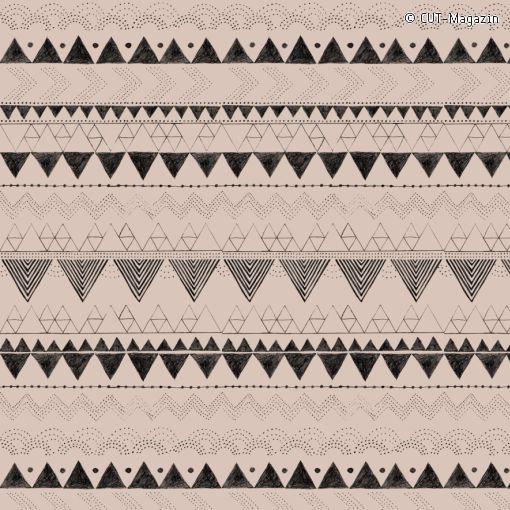 Anna Härlin's Ethno-Fabric Pattern made for the CUT-magazin | (#09002)