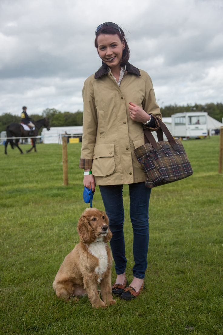 """barbourpeople: """" We love Sarah's country inspired outfit featuring details of our Classic Tartan sett. Not to be missed,Alfie the dog looks equally smart! """""""