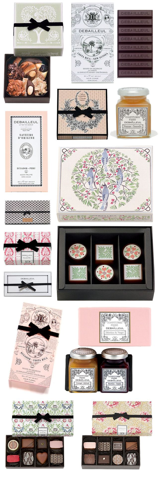 Debailleul gorgeous collection of illustrated packaging PD