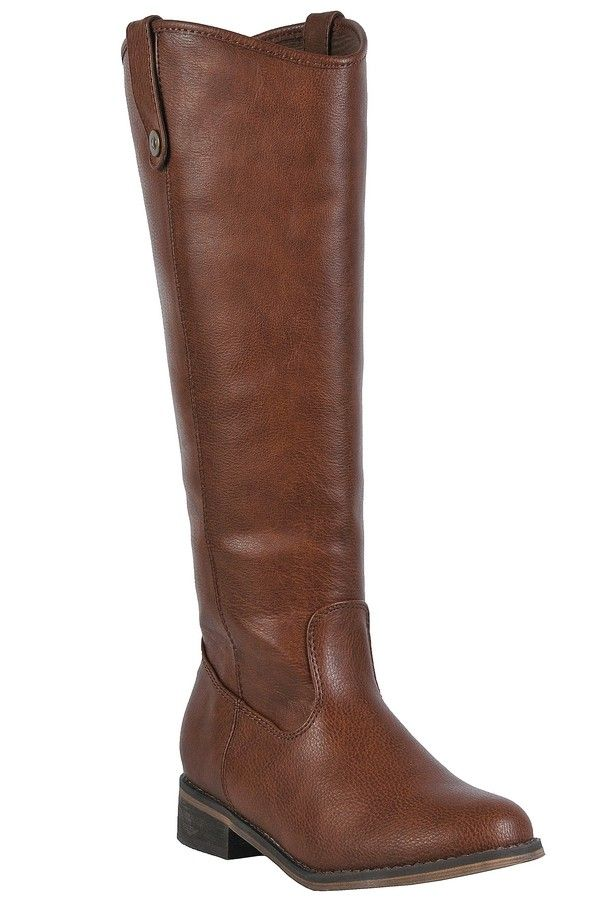 Lily Boutique Class Act Riding Boot in Cognac, $60 Cognac Riding Boots, Cute Fall Boots, Tan Riding Boots, Brown Boots www.lilyboutique.com