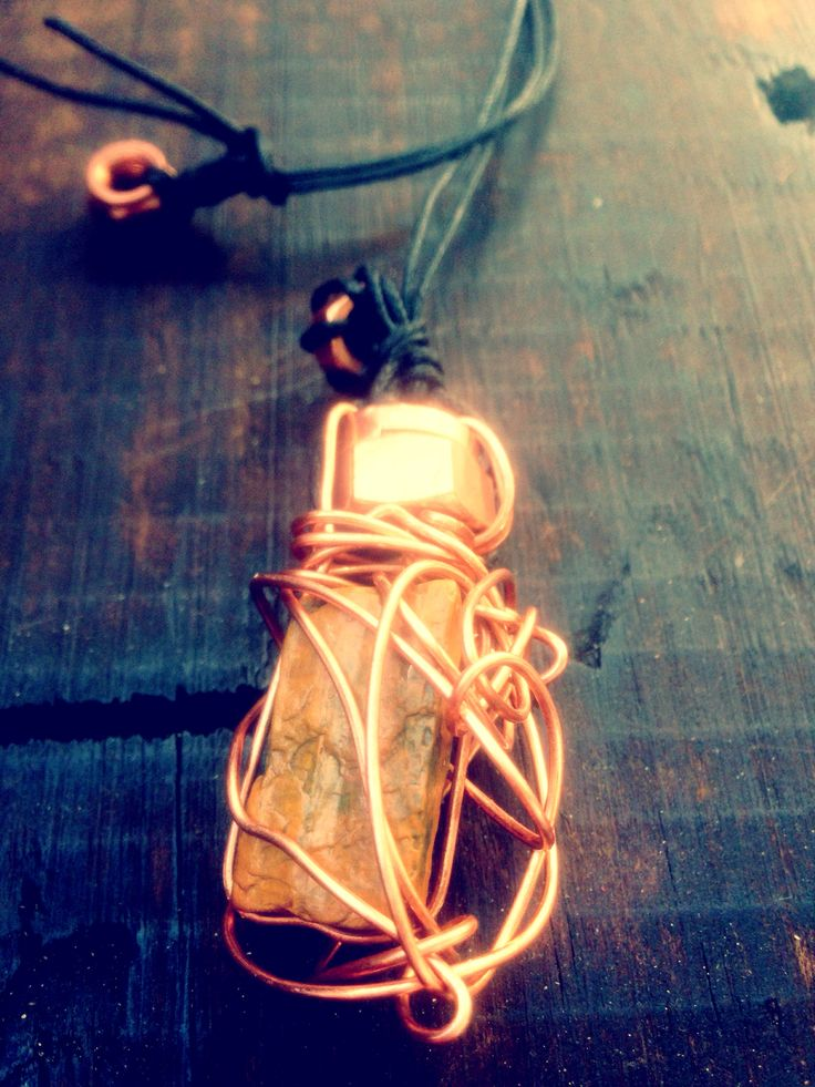 My wood, it's turned to stone!  Petrified wood EDTN -copper wrapped - lux necklaces   -hardwirewarrior   Find your inner strength. Be Bold.