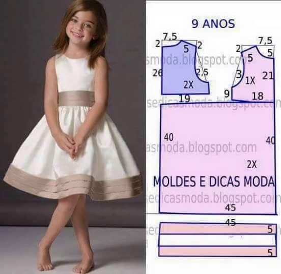 Patrones de vestidos para niña
