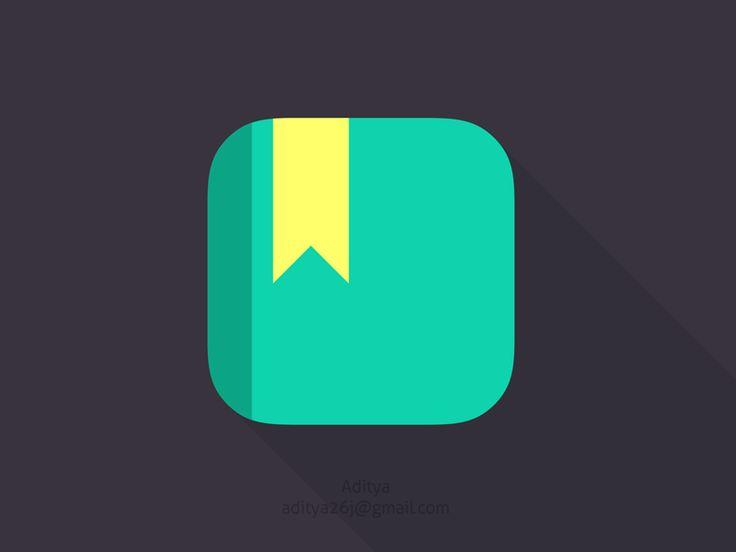 'Notes' flat ios app icon by Aditya Chhatrala