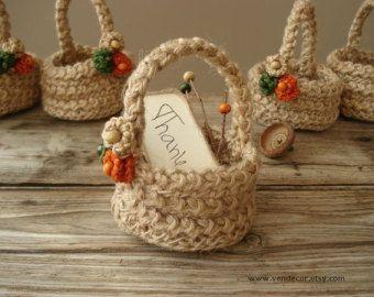 Πλέκω Mini Καλάθια δώρων-Σετ από 5, πλέκω καλάθια Twine, ευνοεί πλέκω, Εναλλακτικές τσάντες δώρων, Άνοιξη Καλοκαίρι Μπομπονιέρες, Eco Γάμος