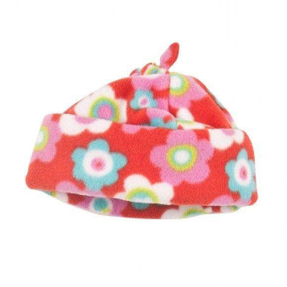 Strawberry Fleece Hat with Ties | Perfect fleece hat for a young girl this winter | Made in UK > Under £12.00 including delivery > http://www.madecloser.co.uk/clothes-accessories/children/strawberry-fleece-hat