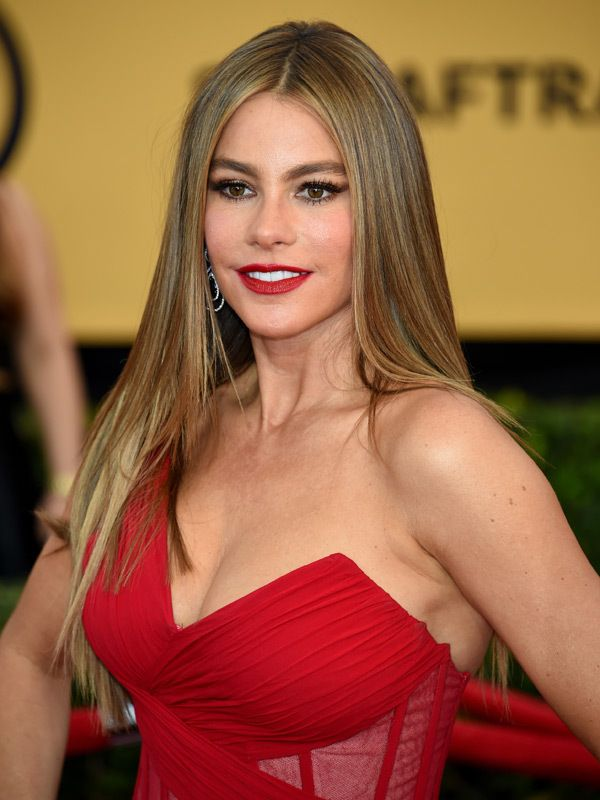 Actress Sofia Vergara attends the 21st Annual Screen Actors Guild Awards at The Shrine Auditorium on January 25, 2015 in Los Angeles, California. (Photo by Ethan Miller/Getty Images)